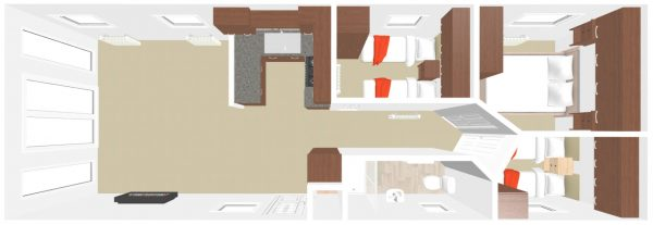 Sunrise Deluxe 3 bed 3D Plan