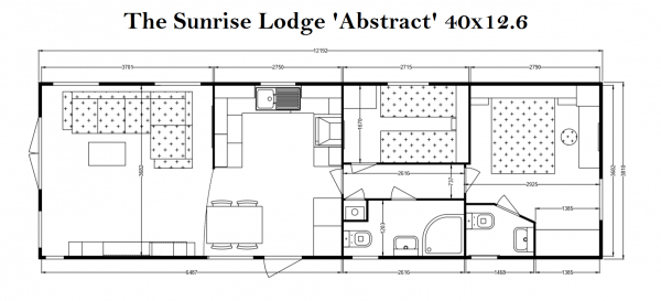 Sunrise Lodge Abstract 2 bed