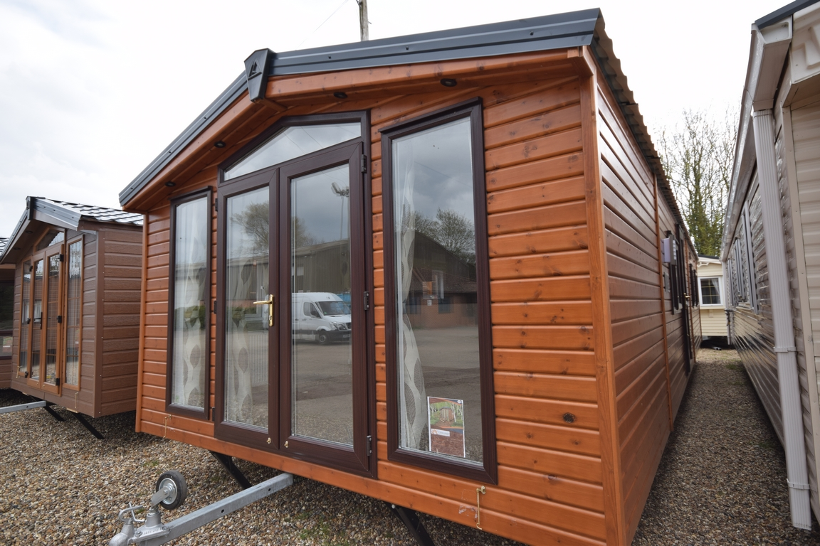 Sunrise Lodge Deluxe Timber clad mobile home